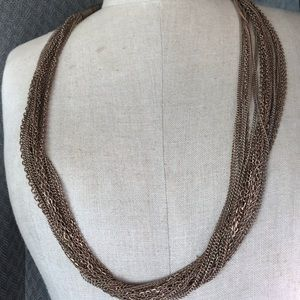 Coldwater creek necklace 20 strands gold tone new